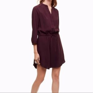 Aritzia Babaton Burgundy Bennett Silk Dress
